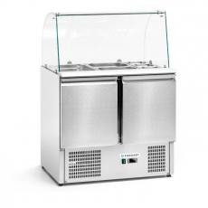 Stół chłodniczy 2-drzwiowy sałatkowy z nadstawką szklaną<br />model: FG07101/W<br />producent: Forgast