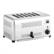 Toster ze stali nierdzewnej RCET-6E<br />model: 10010331<br />producent: Royal Catering