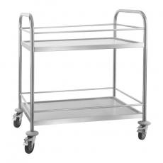 Wózek kelnerski nierdzewny 2-półkowy składany RCBW 2<br />model: 10010353<br />producent: Royal Catering