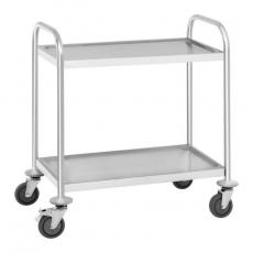 Wózek kelnerski nierdzewny 2-półkowy składany RCSW 2.1H<br />model: 10010420<br />producent: Royal Catering