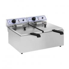Frytownica elektryczna 2-komorowa poj. 2x17 l RCEF 15D<br />model: 10010422<br />producent: Royal Catering