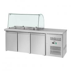 Stół chłodniczy sałatkowy 3-drzwiowy RCSA-S228<br />model: 10010449<br />producent: Royal Catering