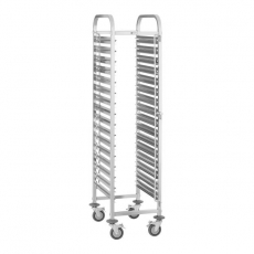 Wózek nierdzewny składany do tac i pojemników GN RCTW-16GN.1<br />model: 10010868<br />producent: Royal Catering