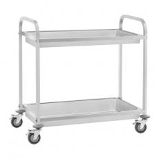 Wózek kelnerski nierdzewny głęboki 2-półkowy składany RCSW-7.2<br />model: 10010986<br />producent: Royal Catering