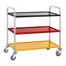 Wózek kelnerski nierdzewny 3-półkowy składany RCSW 3C<br />model: 10011011<br />producent: Royal Catering