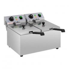 Frytownica elektryczna 2-komorowa 2x8 l RCEF 08DB<br />model: 10011143<br />producent: Royal Catering