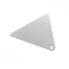 Skrobka cukierniczo-piekarnicza trójkątna nierdzewna grzebień 11x11 cm<br />model: 554227<br />producent: Hendi