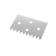 Skrobka cukierniczo-piekarnicza prostokątna nierdzewna grzebień 10,2x6,9 cm<br />model: 554234<br />producent: Hendi