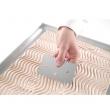 Skrobka cukierniczo-piekarnicza ze stali nierdzewnej, grzebień, 10.2x6.9 cm, 554234