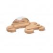 Wieszak drewniany na łopaty i szczotki do pizzy, 4 miejsca, 617755