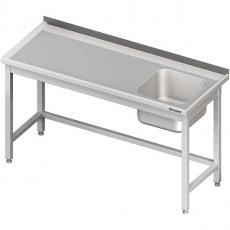 Stół nierdzewny ze zlewem 1-komorowym<br />model: 980656160/W<br />producent: Stalgast