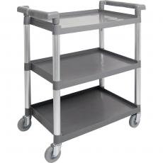 Wózek kelnerski z tworzywa - 3-półkowy<br />model: 661035<br />producent: Stalgast