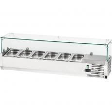 Nadstawa chłodnicza z szybą prostą 7xGN 1/4<br />model: 844541<br />producent: Stalgast