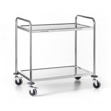 Wózek kelnerski nierdzewny 2-półkowy składany<br />model: FG01002/W<br />producent: Forgast