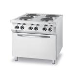 Kuchnia gastronomiczna elektryczna 4-płytowa z piekarnikiem 225936
