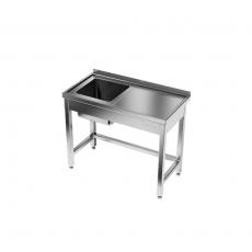 Stół nierdzewny ze zlewem 1-komorowym<br />model: E2030/800/600/W<br />producent: ProfiChef
