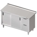 Stół roboczy nierdzewny z blokiem szuflad i szafką 980356140