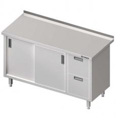 Stół roboczy nierdzewny z blokiem szuflad i szafką<br />model: 980356140/W<br />producent: Stalgast