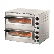 Piec do pizzy 2-komorowy MINI PLUS 2<br />model: 203535<br />producent: Bartscher