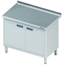 Stół roboczy nierdzewny z szafką<br />model: 980157120/U122<br />producent: Stalgast