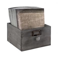 Skrzynka drewniana Vintage 18,5x18,5x11 cm bez wyposażenia<br />model: 11633<br />producent: APS