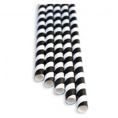 Słomki papierowe czarno-białe<br />model: FF-2508PK<br />producent: BarEq