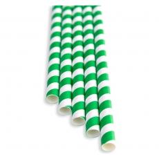 Słomki papierowe zielono - białe<br />model: FF-2508PG<br />producent: BarEq