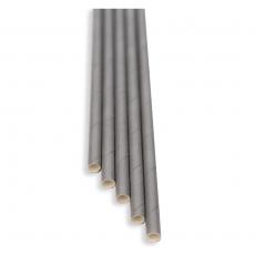Słomki papierowe szare<br />model: FF-2508S<br />producent: BarEq