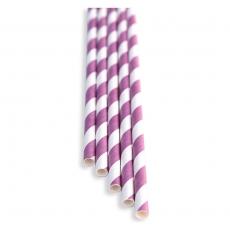Słomki papierowe różowo - białe<br />model: FF-2108PF<br />producent: BarEq