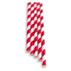 Słomki papierowe czerwono - białe<br />model: FF-2508PR<br />producent: BarEq