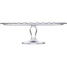 Szklana patera na ciasto - śr. 37 cm<br />model: 545015<br />producent: Pasabahce