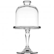 Szklana mini patera z kloszem - wys. 19.8 cm<br />model: 545016<br />producent: Pasabahce