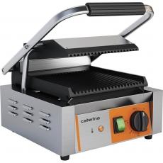Grill kontaktowy pojedynczy ryflowany 1.8 kW Caterina<br />model: 742018<br />producent: Stalgast