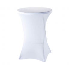 Pokrowiec na stół barowy śr. 80 cm biały<br />model: 950160<br />producent: Stalgast