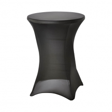 Pokrowiec na stół barowy śr. 80 cm czarny<br />model: 950163<br />producent: Stalgast