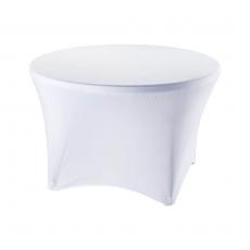 Pokrowiec na stół okrągły śr. 115 cm biały<br />model: 950164<br />producent: Stalgast