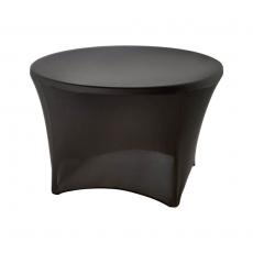 Pokrowiec na stół okrągły śr. 115 cm czarny<br />model: 950167<br />producent: Stalgast