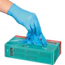 Rękawice jednorazowe nitrylowe niebieskie rozm. XL - 100 szt.<br />model: 505034<br />producent: Stalgast