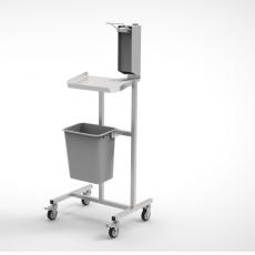 Stanowisko dezynfekcyjne z półką i dozownikiem DM-3300-1<br />model: DM-3300-1<br />producent: Dora Metal