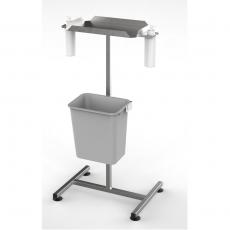 Stanowisko dezynfekcyjne z półką i dozownikami na stopkach DM-3300-2<br />model: DM-3300-2<br />producent: Dora Metal