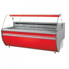 Lada chłodnicza z szybą giętą i podświetlanym spodem<br />model: L-C/122/107<br />producent: Rapa