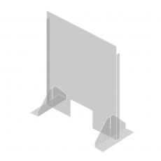 Osłona z plexi wolnostojąca Sanifine<br />model: 570968<br />producent: Fine Dine