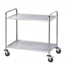 Wózek kelnerski nierdzewny 2-półkowy składany<br />model: 661022<br />producent: Stalgast