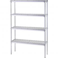 Regał magazynowy aluminiowy na pojemniki GN 1/1<br />model: 686100<br />producent: Stalgast