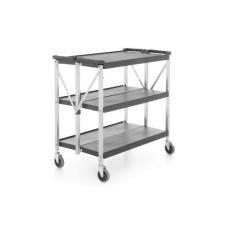 Wózek kelnerski 3-półkowy z tworzywa, składany<br />model: 810231<br />producent: Hendi