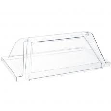 Szklana pokrywa do podgrzewacza rolkowego do parówek<br />model: 268612<br />producent: Hendi