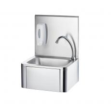 Umywalka ze stali nierdzewnej z dozownikiem mydła<br />model: 610005<br />producent: Stalgast