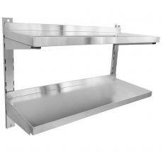 Półka nierdzewna wisząca podwójna 120x30x55 cm<br />model: FG15002<br />producent: Forgast