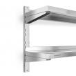 Półka nierdzewna wisząca podwójna 120x30x55 cm - FG15002