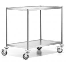 Wózek kelnerski nierdzewny 2-półkowy płaski bez uchwytów Forgast<br />model: FG01012<br />producent: Forgast